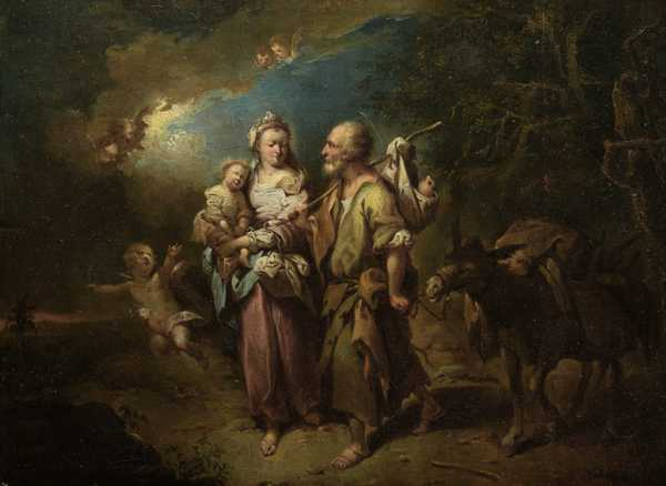 The Holy Family on the Flight into Egypt ca. 1765